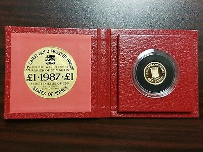 1986 Jersey 1 Pound Gold Coin, Parish of St. Peter (.5794 AGW) Only 250 Minted!