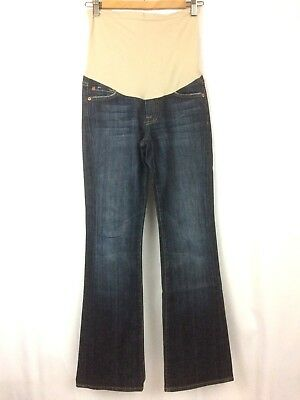 Seven For All Mankind Womens Maternity Jeans Boot Cut Stretch Pea In Pod Size 25