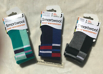 SMARTWOOL Kids Wintersport Light Cushion Socks SMALL US Kid Size 9-11.5 USA MADE