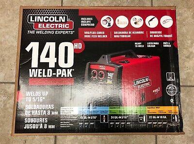Lincoln K2514-1 140 HD Weld Pak MIG Flux Cored Wire Feed Welder-FACTORY NEW!!!