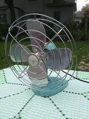 Vintage Eskimo Table Fan MODEL # 101001 McGraw Edison Co. WORKS Industrial Look