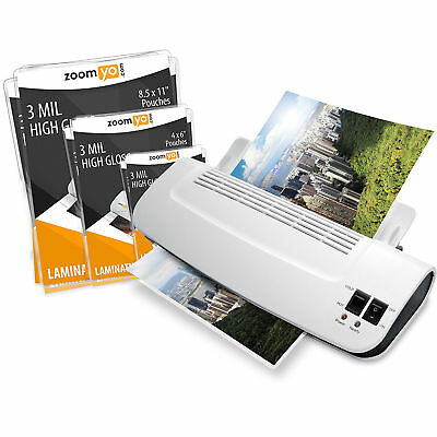 NEW Hot Cold Thermal Laminator Machine 3-Pack Laminating Pouches FREE 2 DAY SHIP