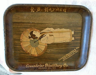 RARE Vintage R.B. Hayden Greenbrier Distillery Co. Whiskey Tray - San Toy