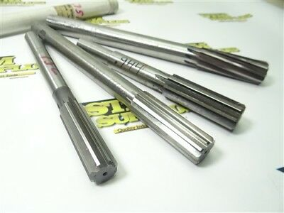 """Lot Of 4 Hss Reduced & Straight Shank Reamers .7510"""", .886"""", .944"""" & .1"""" Yankee"""