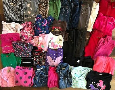 Girls 6/6X Fall Winter Clothes Lot Jeans Shirts Dresses Pjs More