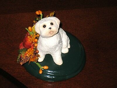 Byers choice DOG - BICHON - FALL design accessory,