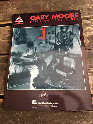 Gary Moore Still Got the Blues sheet music score book guitar tab