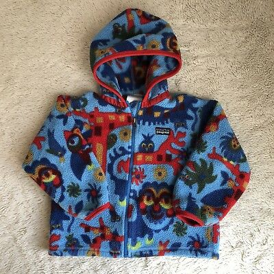 Patagonia Baby 3T Toddler Little Kids Synchilla Fleece Hooded Jacket Boys Girls