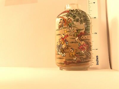 Chinese Snuff Bottle Reverse Painting Inside