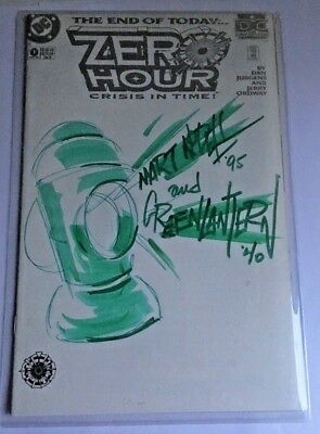 ZERO HOUR #0 Sketch & Signed by Marty Nodell Green Lantern NM/Mint