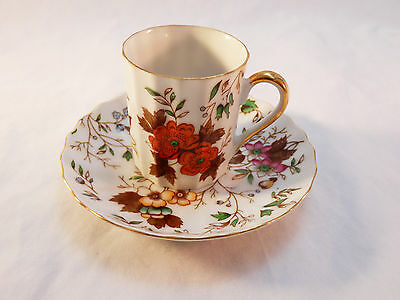 "Saji Fine China ""Autumn Glory"" Chocolate Cup and Saucer EW-1262"