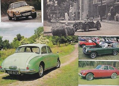 65 LOT MG Automobiles, Large Variety of Magazine Clips - 'B', 'A', 'Ts' & More
