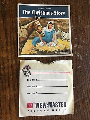 1948 view master the christmas story b383 3 reel set booklet