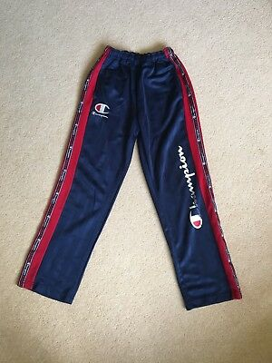 Vintage Champion Tracksuit Bottoms Logo Taped Trackies Womens Small
