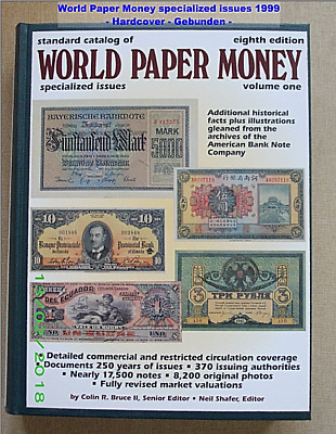 World Paper Money  specialized Issues eighth Edition