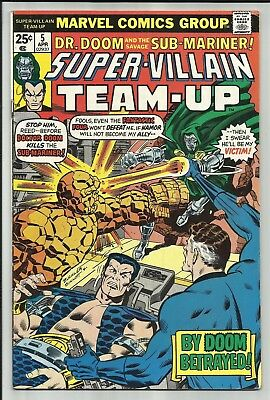 Super-Villain Team-Up #5 1976 Dr. Doom & Sub-Mariner! Key 1St Shroud App! Fn+