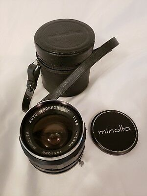 MINOLTA MC W.ROKKOR HG 35mm f/2.8  Lens  Excellent Condition