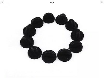 10 Pack Rubber Pin Backs Holder PVC Clutch Badge Lapel Pin Tie Tacks Jewelry