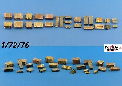 Redog 1/72 resin modelling military kit - crates / boxes / 33 pieces /b3
