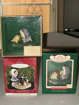 Hallmark Frosty Friends Ornaments # 4, 8, 19