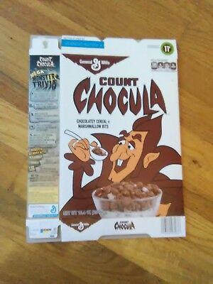 Vintage 2015 Count Chocula Monster Cereals Cereal Box Halloween time!