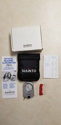 Suunto PM5/360PC Clinometer with Percent and Degree Scales opened box new