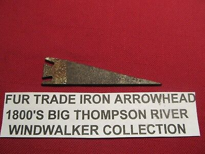 Historic very old  iron fur trade fur trade era arrowhead Colorado Territory