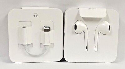 Genuine Apple EarPods Headset for iPhone 7 8 X  Lightning Connector With Adapter