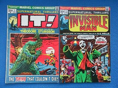 Supernatural Thrillers # 1 - (Vg+) & # 2 - (Vf-) - 1St And 2Nd Issues