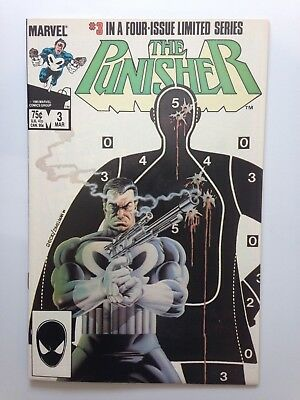 Punisher First Limited Series #3 1985  Zeck Classic Cover -  NM+