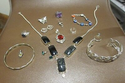 Great Lot of Vintage/Modern Silver Mixed Metal Jewelry Scrap/Use 139g