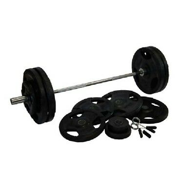 195kg Rubber Coated Olympic Barbell Set