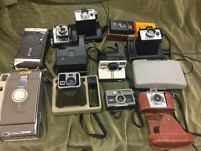 Vintage Camera Lot of 12: Kodak and Polaroid (BL)