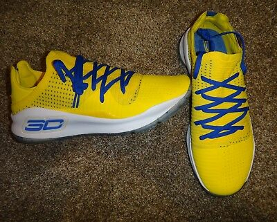 4801a23c2089 NEW MENS 12.5 Under Armour Curry 4 Low Warriors Media Day Pe Sc30 Sample  Rare -  888.88