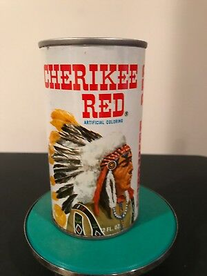 Cool Cherikee Red Indian Chief Vintage 1960's Soda Can