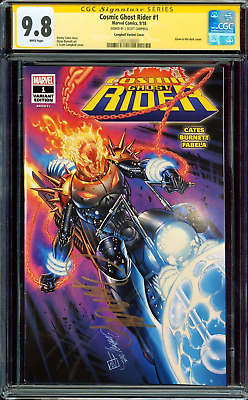 SDCC Cosmic Ghost Rider #1 CGC SS 9.8 Signed by Campbell Glow in the Dark
