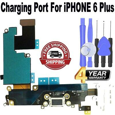 **NEW** iPhone 6 Plus WHITE Charging USB Port Flex Cable with FREE TOOL KIT