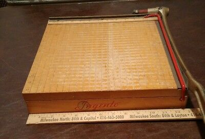 """Ingento No. 4 : Guillotine Paper Cutter Trimmer : 12"""" x 12""""  Vintage"""