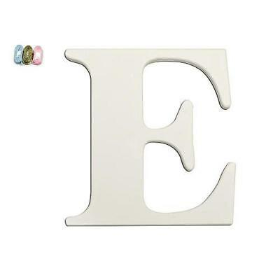 "Babies""R""Us E White Wooden Personalizable Letter Wall Decor 7.5 Inch BHFO 8496"