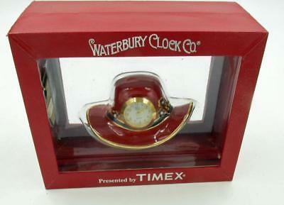 Red Hat Society Novelty Small Clock By Waterbury Timex Clock Co Mib