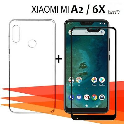 "Xiaomi Mi A2 / 6X + 5,99"" Protector glass glass tempered full + cover"