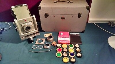 VTG KODAK MASTER VIEW CAMERA 4X5 No.3 ACME SYNCHRO LENS ACCESSORIES CASE NICE!!
