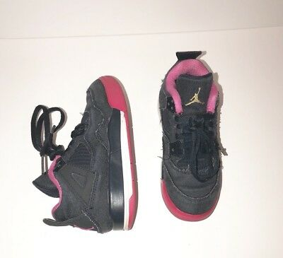new product 3ab72 48d1f Air Jordan Retro 4 IV Denim Girls Size 11c 487725-408 Blue Pink White  Toddlers