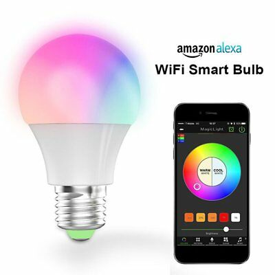 Mini Cell Phone App Remote Control Wi-Fi Smart LED Bulb for Alexa/Google Home BF