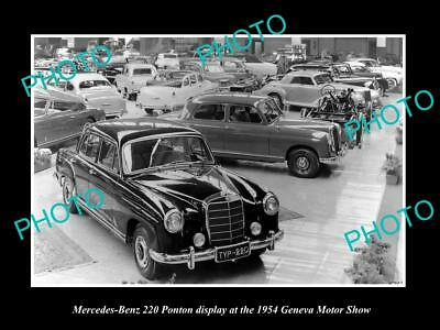 Old Large Historic Photo Of Siata Diana Coupe 1951 Geneva Motor Show Display Collectibles Automobiles