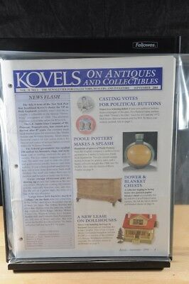 Lot of 12 Kovels On Antiques & Collectibles Magazines Sept 2004 - August 2005