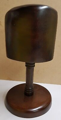 Wooden Tabletop Hat Stand Heavy Quality As Is Cracks (see photo)