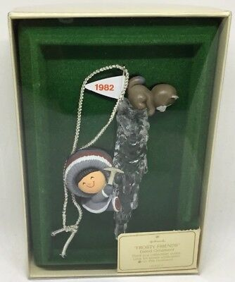 Hallmark Frosty Friends 1982 Third In Series Eskimo Christmas Ornament Nos Rare