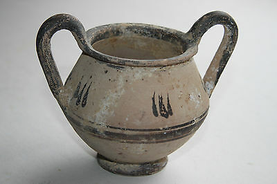 ANCIENT GREEK HELLENISTIC  POTTERY KANTHAROS 3rd CENT BC