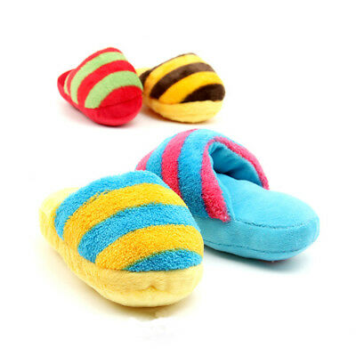 Dog Slipper Shape Chew Toy Soft Lovely Play Pet 2pcs Plush Sound Healthy Squeaky